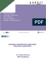 Claudiu Zdrehus Sistemele Respiratorii Anestezice