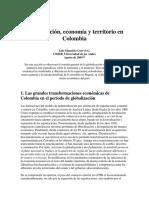 Globalizacion, Economia y Territorio en Colombia