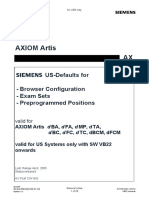 System, US-Defaults f. Exam Sets, f. FD Systems w. SW VB22