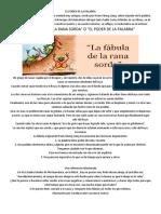 EL PODER de LA PALABRA - La Fabula de La Rana Sorda