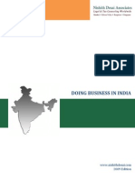 Doing Business in India , 2009