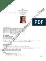 Syllabus and Lesson Plan Sample PDF