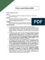 Minuta Acuerdos Reunión Directorio 26 Octubre