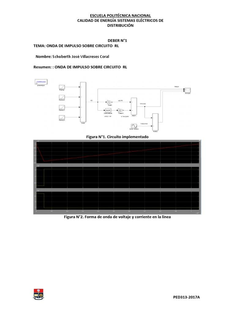 Circuito Rl : Onda de impulso sobre circuito rl