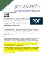 2017-01-02 FPDS ¿a Dónde Va La Ciencia y Universidad Argentina