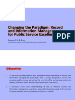 E. Bryan -  Changing the Paradigm - Record and Information Management for Public Service Excellence