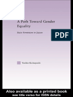 (East Asia_ History, Politics, Sociology and Culture) Yoshie Kobayashi-A Path Toward Gender Equality_ State Feminism in Japan-Routledge (2004)