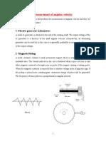 Measurement of Angular Velocity& Vibration