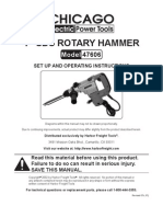 Harbor Freight Rotary Hammer 1in SDS 47606
