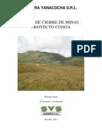 Proyecto Conga Plan de Cierre de Minas Octubre 2011 Web Cierre de Mina s