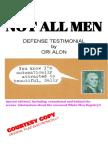 Not All Men Defense Statement by Ori Alon 2018 Alfassi Books