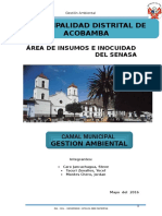Impacto Ambiental-camal Acobamba - Tarma