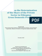 A Study on the Determination of the Share of the Private Sector in Ethiopian Gross Domestic Product