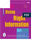 Mandakini Devasher Et Al (CHRI 2009), Your Guide to Using the Right to Information Act, 2005