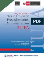 Guía Para Mejorar El Texto Unico de Procedimientos Administrativos (TUPA)