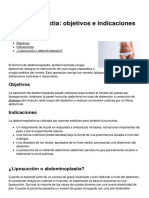 Abdominoplastia-objetivos e Indicaciones