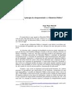 O Princípio Da Obrigatoriedade e o Ministério Público