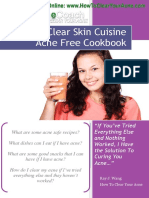 Clear Skin Cuisines Acne Recipe Cookbook