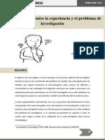 BORAGNIO Autoetnografia Entre La Experiencia y El Problema de Investigacion
