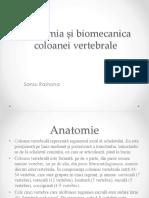 Anatomia Si Biomecanica Coloanei Vertebrale