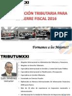 Curso Planificacion Tributaria Cierre Fiscal 2016 Participantes