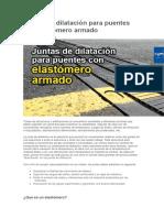 Juntas de Dilatación Para Puentes Con Elastómero Armado