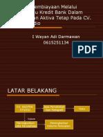 Alter Nat If Pembiayaan Untuk Pengadaan Aktiva Tetap Pada UD