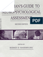 Clinician s Guide to Neuropsychological Assessment
