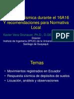 3. Demanda Sismica Durante 16A16 ECU