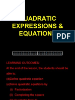 Quadratic Expressions