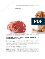 Recetas Dieta Barf Para Perros