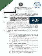 Circular Letter No. 2016 – 7 - Semi Expendable