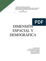 Dimension Espacial y Demografica