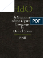 a Grammar of the Ugaritic Language Handbook of Oriental Studies Handbuch Der Orientalistik