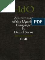 a Grammar of the Ugaritic Language Handbook of Oriental Studies Handbuch Der Orientalistik