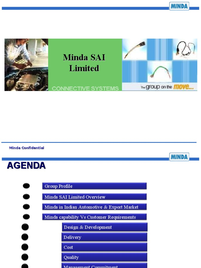 Minda Sai Limited Corp Ppt2 Motor Vehicle Vehicles Wiring Harness Industry In Chennai 2