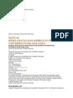 Manual Keselamatan Dan Kesihatan Pekerjaan