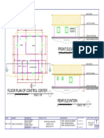 Control Center Floor Plan and Elevations for Landfill