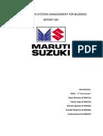 Report on Maruti Suzuki