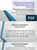 Salient Points of House Sub-committee Proposals