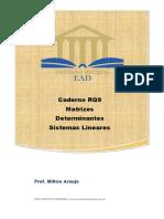 Caderno RQ9 Matrizes e Determinantes