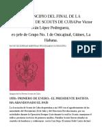 El Principio Del Final de La Asociación de Scouts de Cuba