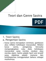 Presentasi Teori Dan Genre Sastra