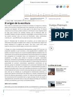 El Origen de La Escritura _ Histórico Digital