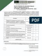 Cronograma Requisitos Anexos Concurso Público Contratación Promotores TOE UGEL 03