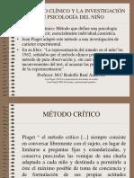 El Método Clínico y La Investigación en Psicología