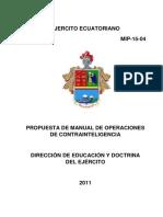 40. Proyecto de Consulta Propuesta Del Manual de Operaciones de Contragerrilla