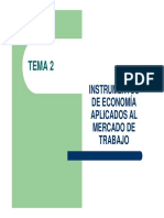 INSTRUMENTOS  DE ECONOMÍA  APLICADOS AL  MERCADO DE  TRABAJO
