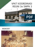 Rapat Koordinasi REUNI SMP3 ANG 88