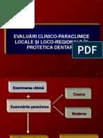 Evaluari Clinico-paraclinice Protetica Dentara